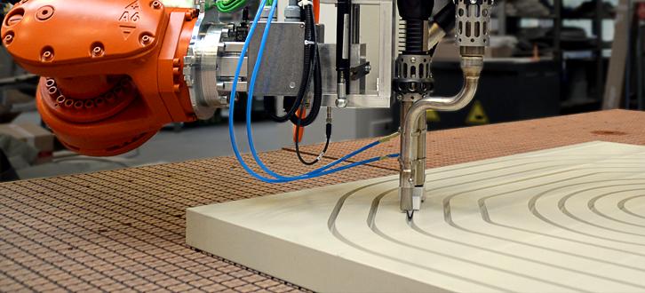 Roboterfräsanlage, Roboter, Robotersystem